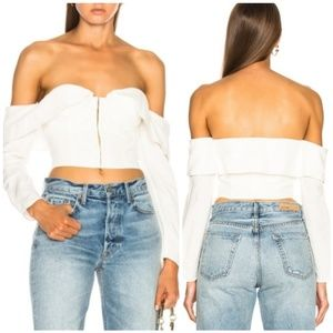 LPA Top 500 Off the Shoulder  Bustier Top Ivory